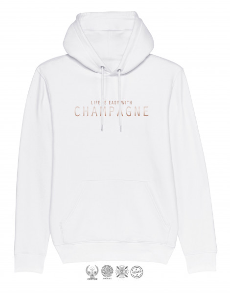 Unisex Hoodie Life is easy with Champagne