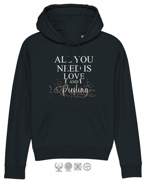 Women Hoodie All you need is Riesling