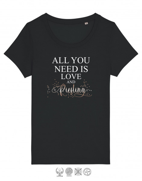 Women T-Shirt All you need is Riesling