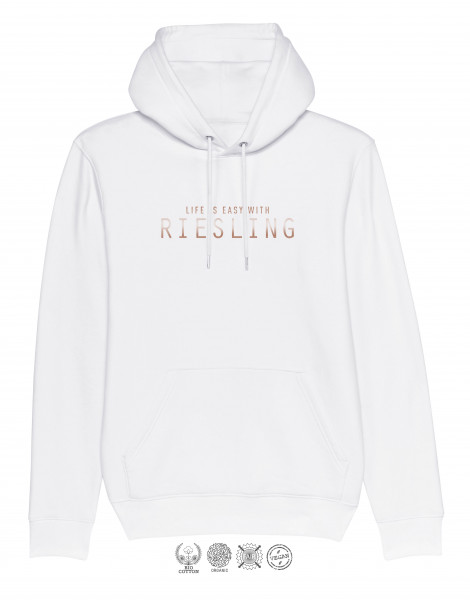 Unisex Hoodie Life is easy with Riesling