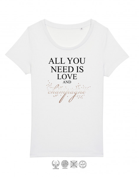 Women T-Shirt All you need is champagne
