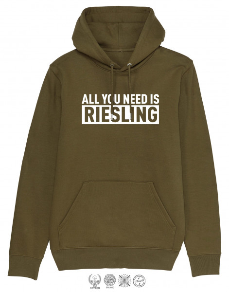 Men Hoodie All you need is Riesling