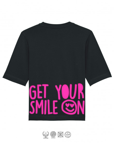 Women T-Shirt Oversize Get your smile on Gerade