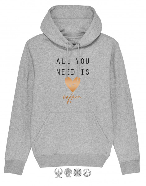 Unisex Hoodie All you need is Herz and coffee