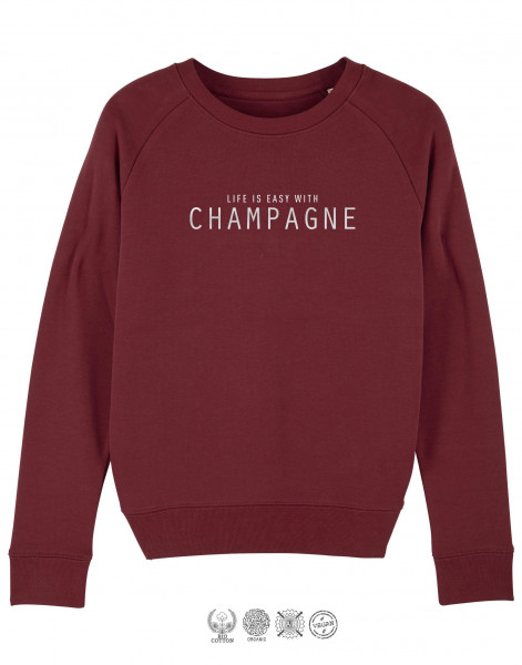 Women Sweater Life is easy with Champagne