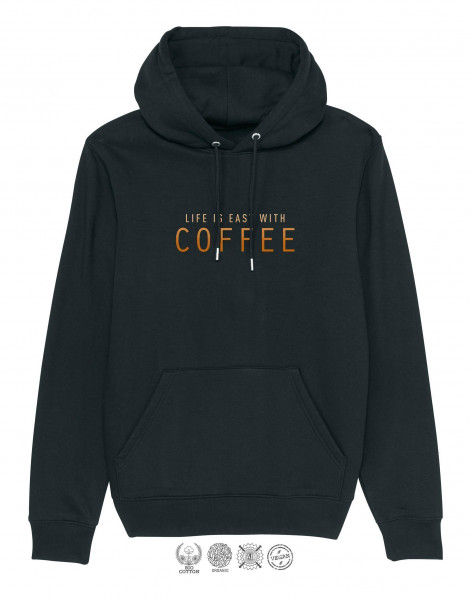 Unisex Hoodie Life is easy with coffee