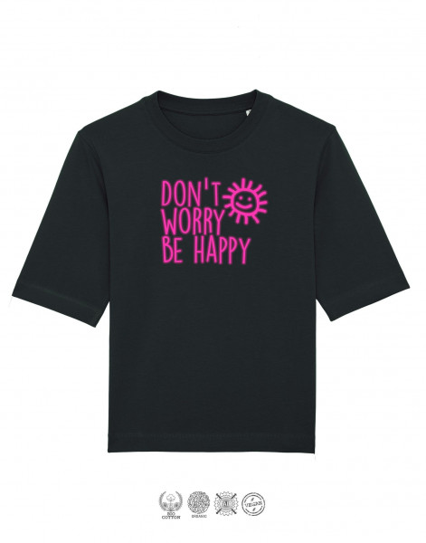 Women T-Shirt Oversize Don't worry be happy