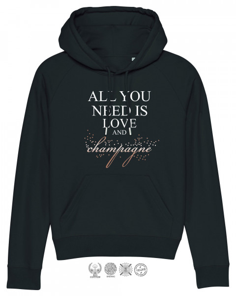 Women Hoodie All you need is champagne